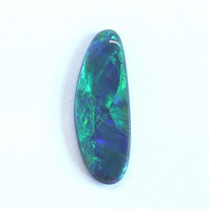 27X10MM 6.56CT SOLID BLACK OPAL LIGHTNING RIDGE AUSTRALIA NATURAL LOOSE GREEN