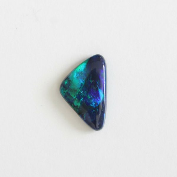 10.8x6.6MM 1.02CT LIGHTNING RIDGE BLACK OPAL SOLID NATURAL AUSTRALIA STONE