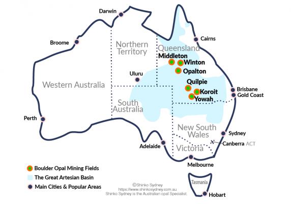 Australian Boulder Opal Mining Fields